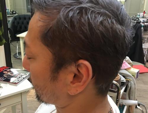 レオン風メンズヘアー